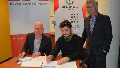 L'ESG UQAM fier partenaire de Montréal Cowork pour soutenir les entrepreneurs