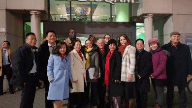 Des visiteurs du MBA pour cadres à l'international pour la Collation des grades de l'ESG 2017