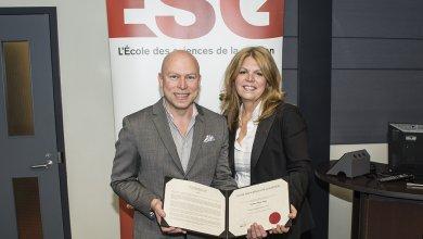 Madame Brigitte Alepin reçoit la distinction de Grande Ambassadrice de l'ESG