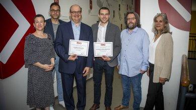 Benoit Bourguignon et Xavier Parent-Rocheleau remportent le concours des meilleures publications des doctorants